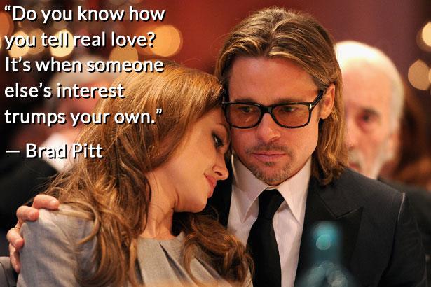 Brad Pitt and Angelina Jolie relationship quote