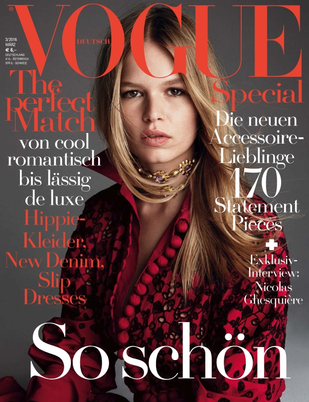 Vogue Germany March 2016 : Anna Ewers by Patrick Demarchelier