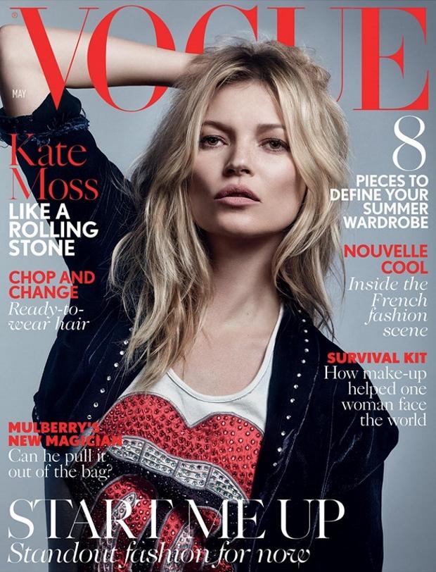 UK Vogue May 2016 : Kate Moss by Craig McDean