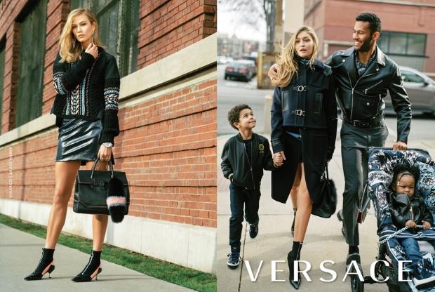 Versace F/W 2016.17 : Gigi Hadid & Karlie Kloss by Bruce Weber