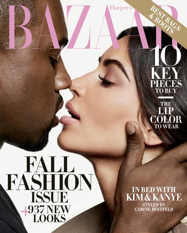 US Harper's Bazaar September 2016 : Kim Kardashian & Kanye West by Karl Lagerfeld