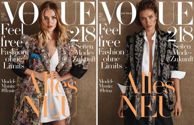 Vogue Germany August 2016 : Lily, Stella, Irina, Rosie & Emily by Giampaolo Sgura