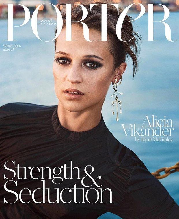 Porter #17 Winter 2016 : Alicia Vikander by Ryan McGinley