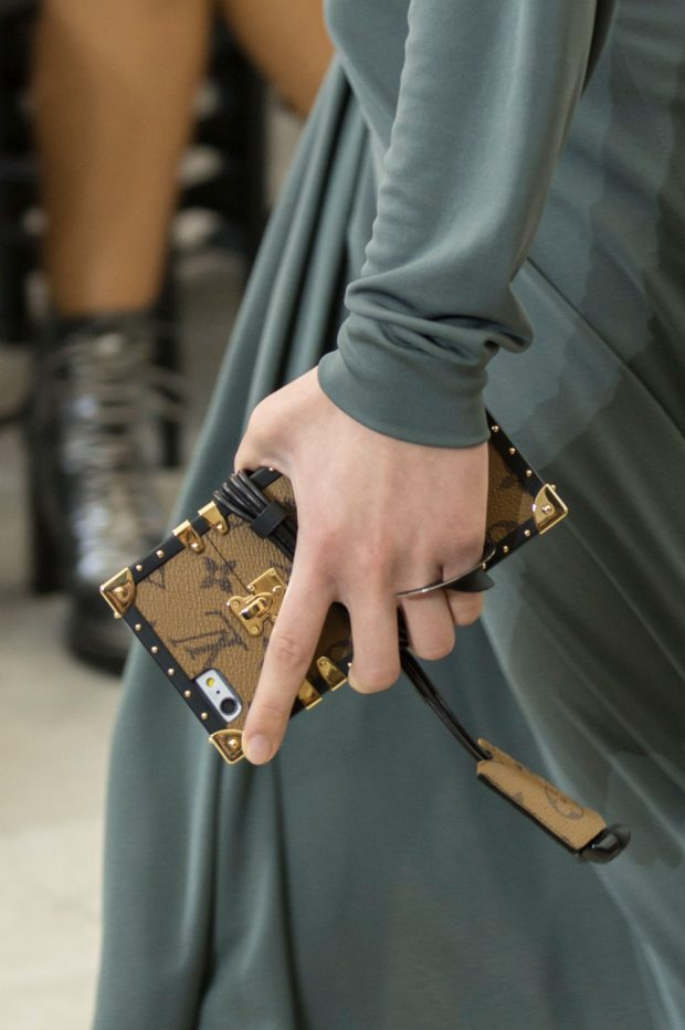 Louis Vuitton debuted trunk-ified cellphone cases for Spring 2017.