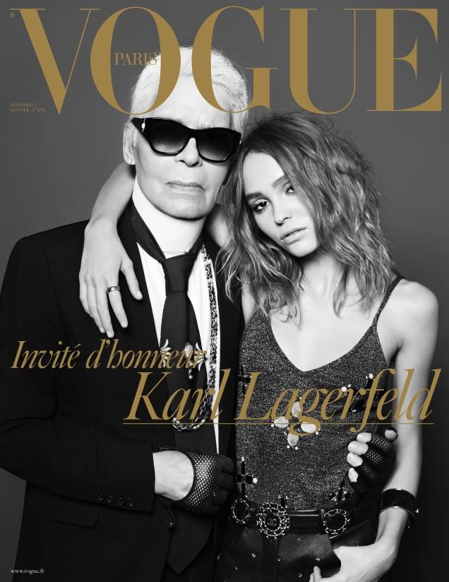Vogue Paris December 2016 / January 2017 : Karl Lagerfeld & Lily-Rose Depp