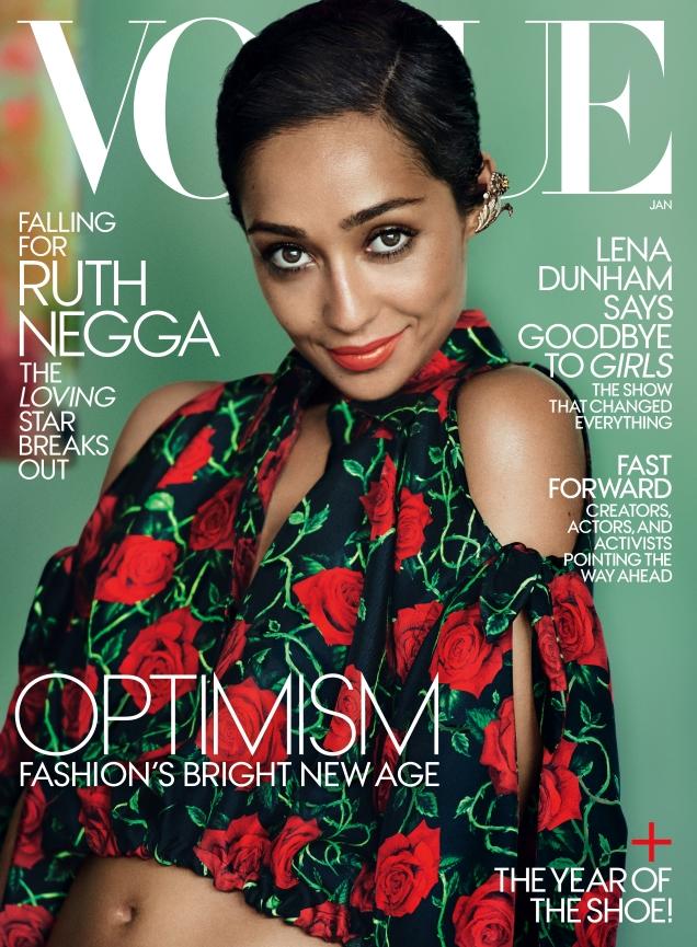 US Vogue January 2017 : Ruth Negga by Mario Testino