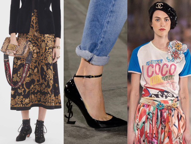 Logos worn on the runway at Christian Dior Pre-Fall 2017, Saint Laurent Spring 2017, Chanel Cruise 2017