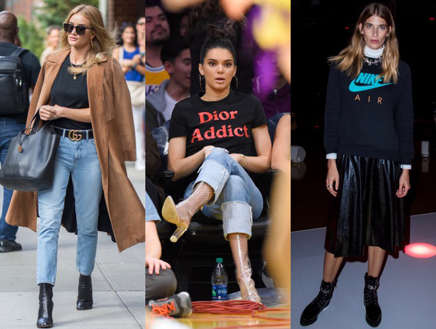 Celebs and other assorted fashion folk doing their best to keep logo mania alive and kicking