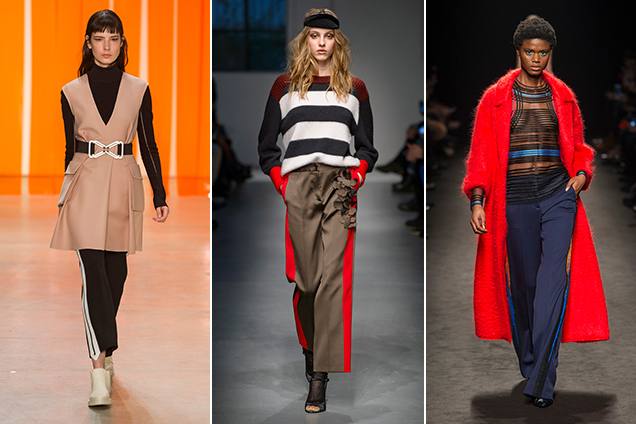 Track pants on the Fall 2017 runways.