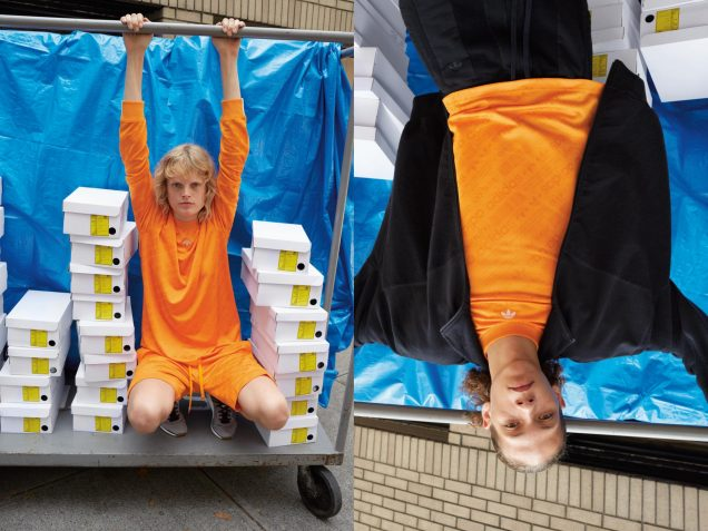 Hanne Gaby Odiele for Alexander Wang x Adidas Originals.