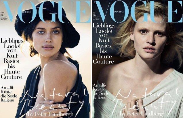 Vogue Germany May 2017 : Kate Moss, Lara Stone & Irina Shayk by Peter Lindbergh