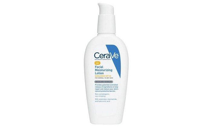 best moisturizer for acne: CeraVe AM Facial Moisturizing Lotion SPF 30