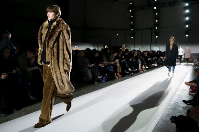 Fur on the Dries Van Noten Fall 2017 runway; Image: Imaxtree