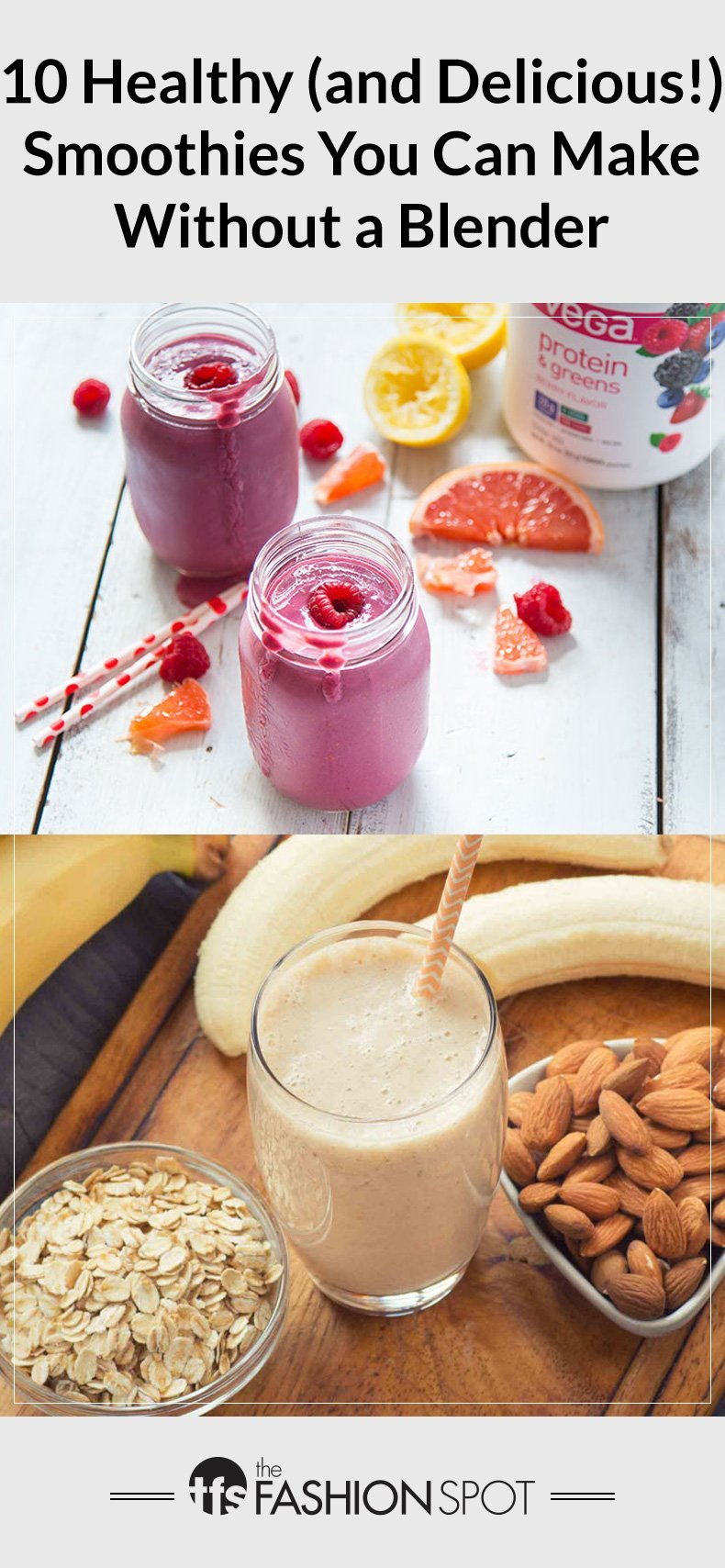 10 Healthy Smoothie Recipes, No Blender Required