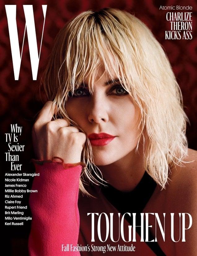 W August 2017 : Charlize Theron by Alasdair McLellan