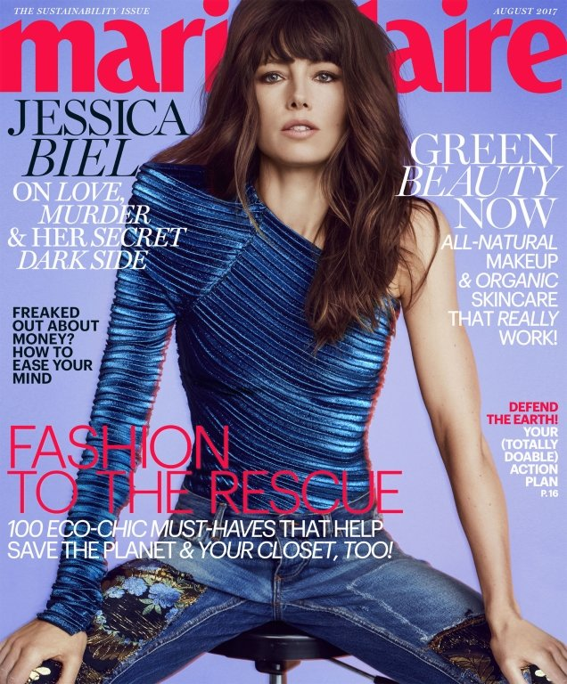 US Marie Claire August 2017 : Jessica Biel by Txema Yeste