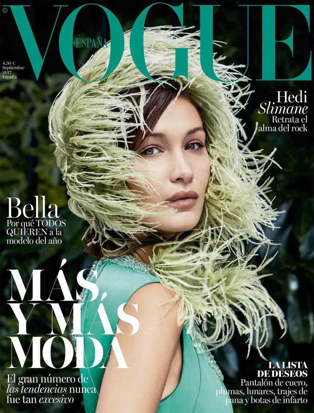 Vogue España September 2017 : Bella Hadid by Patrick Demarchelier