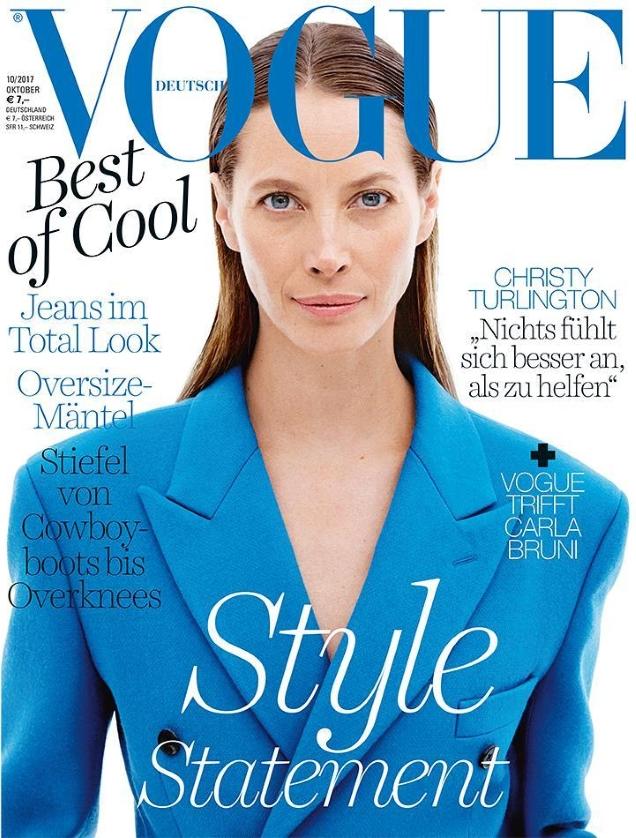 Vogue Germany October 2017 : Christy Turlington by Daniel Jackson