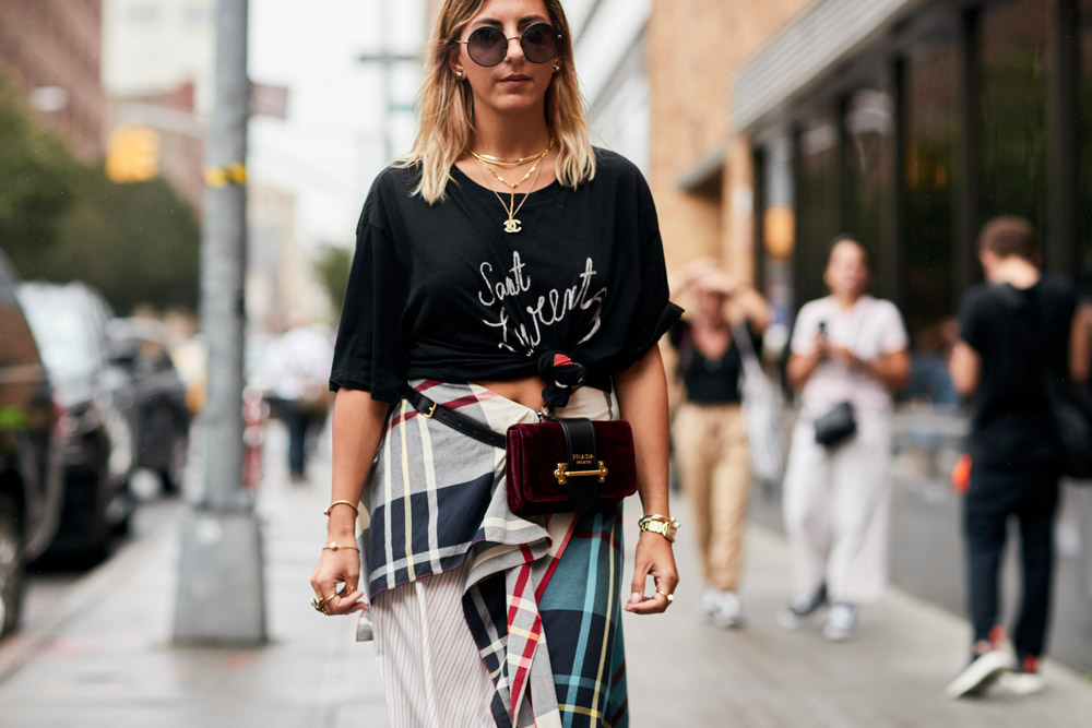 Fanny pack spotted at New York Fashion Week Spring 2018