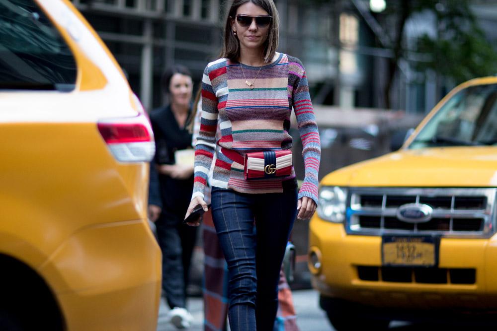Matchy matchy belt bags at New York Fashion Week Spring 2018