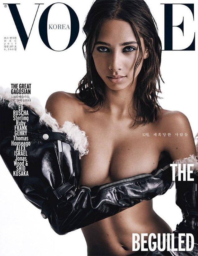 Vogue Korea December 2017 : Yasmin Wijnaldum by Steven Pan