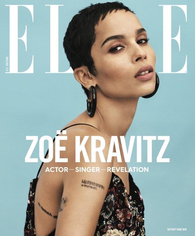 US Elle January 2018 : Zoe Kravitz by Paola Kudacki