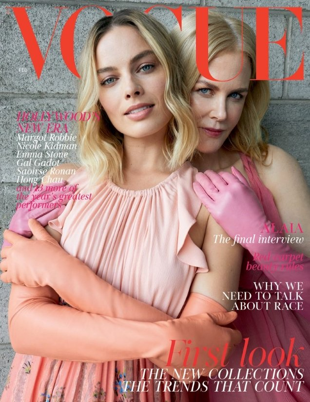 UK Vogue February 2018 : Margot Robbie & Nicole Kidman by Juergen Teller