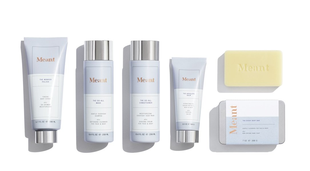 Five pieces from the Meant body care line