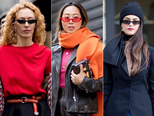 Tiny sunglasses trending at the Spring 2018 haute couture shows.