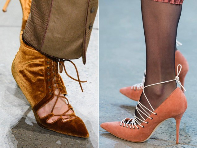 More Fall 2018 evidence that lace-up footwear is trending.