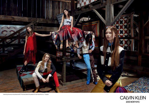 Calvin Klein 205W39NYC's Spring 2018 campaign.