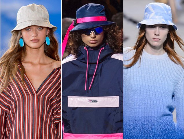 Bucket hats were the topper of choice for Spring 2018.