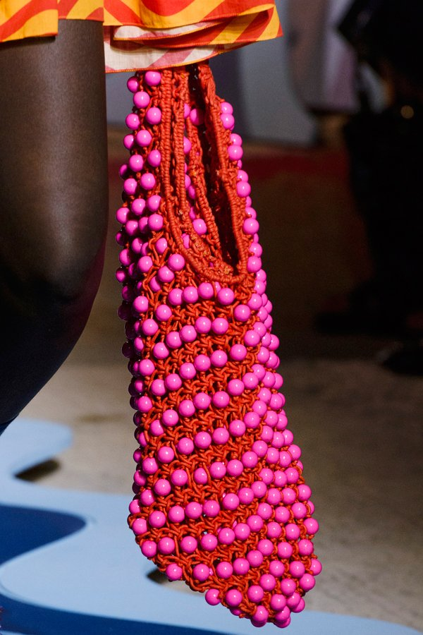 Macrame bag on the House of Holland Spring 2018 runway