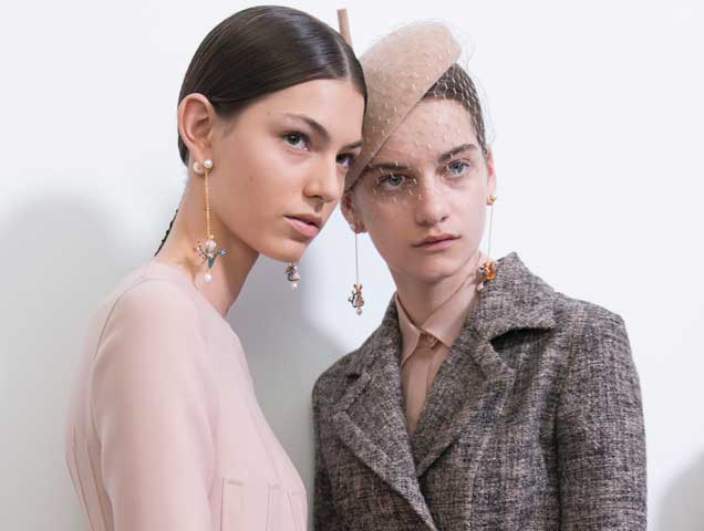earrings at Christian Dior Fall 2018 Haute Couture