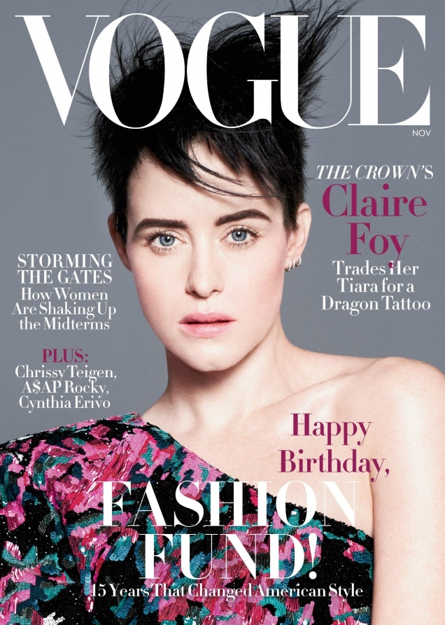 US Vogue November 2018 : Claire Foy by David Sims