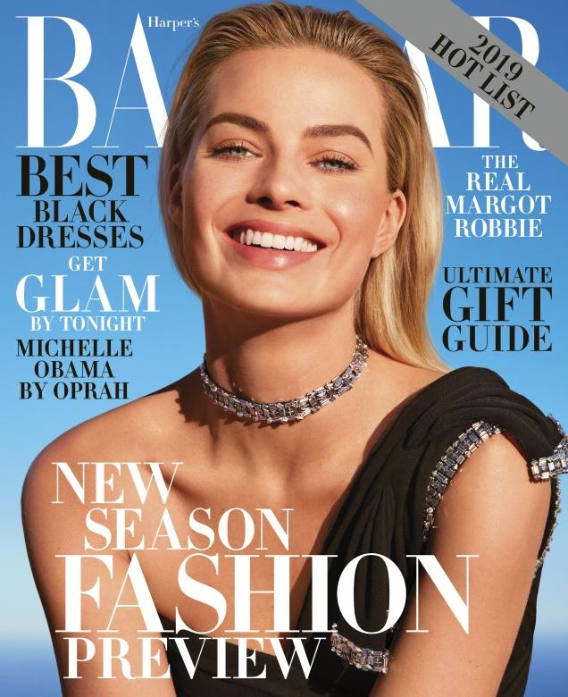 US Bazaar December 2018/January 2019 : Margot Robbie by Camilla Akrans