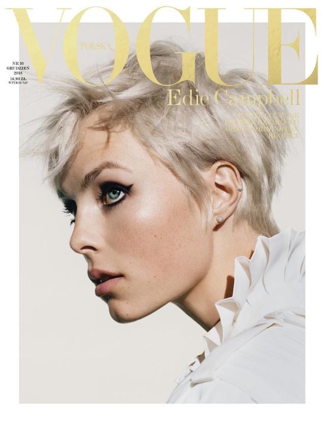 Vogue Polska December 2018 : Edie Campbell by Felix Cooper