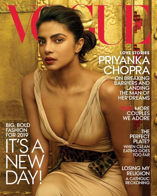 US Vogue January 2019 : Priyanka Chopra by Annie Leibovitz