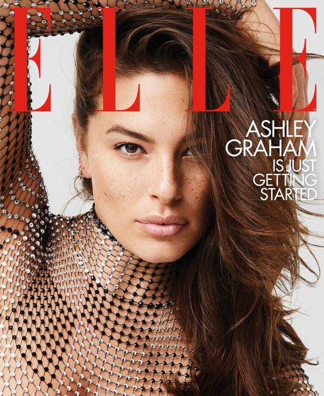 US Elle February 2019 : Ashley Graham by Carin Backoff