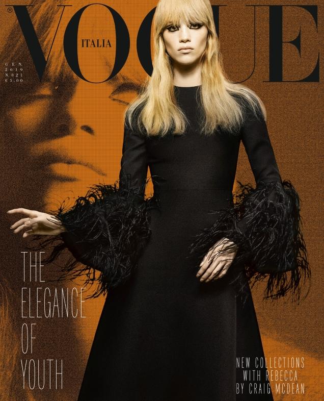 Vogue Italia January 2019 : Rebecca Leigh Longendyke by Craig McDean