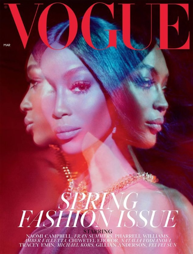 UK Vogue March 2019 : Naomi Campbell by Steven Meisel