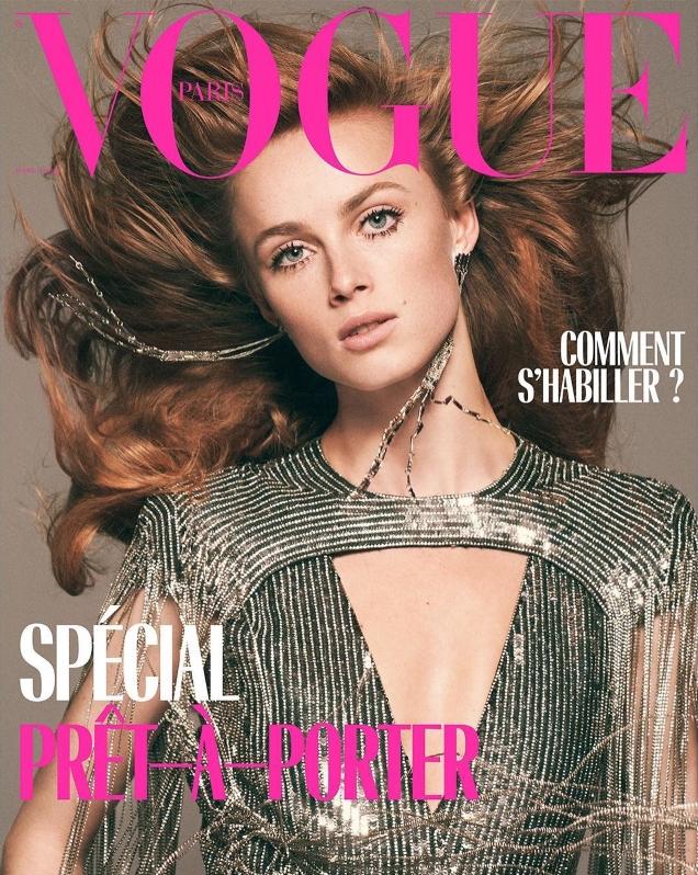 Vogue Paris March 2019 : Rianne van Rompaey by David Sims