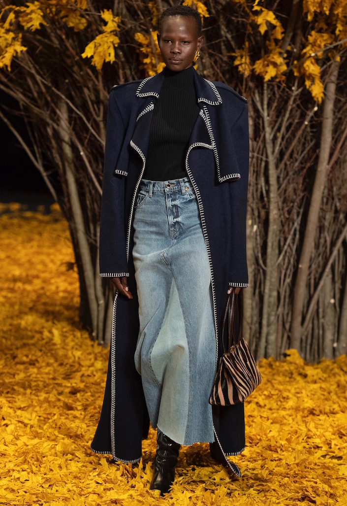 An almost maxi skirt from the Khaite Fall 2019 runway.
