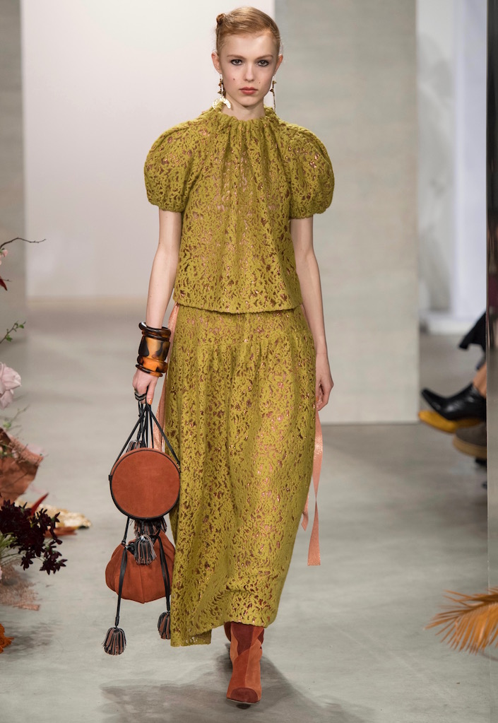 The Ulla Johnson Fall 2019 collection offered several almost maxi skirts.