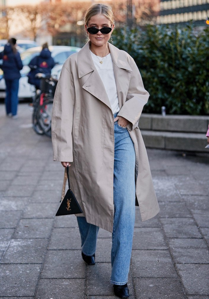 Straight-leg jeans done the street style way.