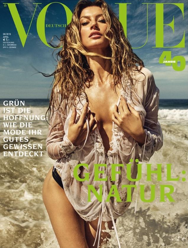 Vogue Germany April 2019 : Gisele Bündchen by Luigi & Iango
