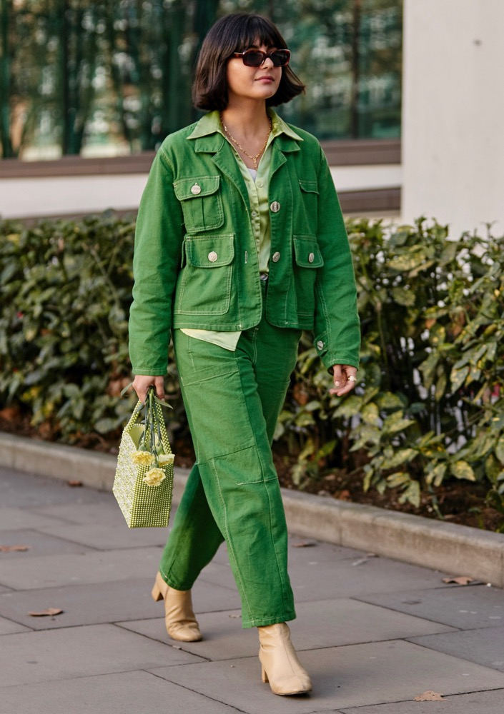 Green all over.