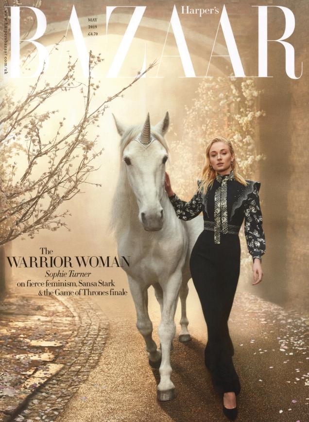 UK Harper's Bazaar May 2019 : Sophie Turner by Richard Phibbs