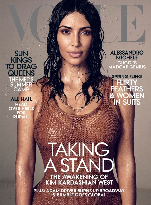 US Vogue May 2019 : Kim Kardashian West by Mikael Jansson