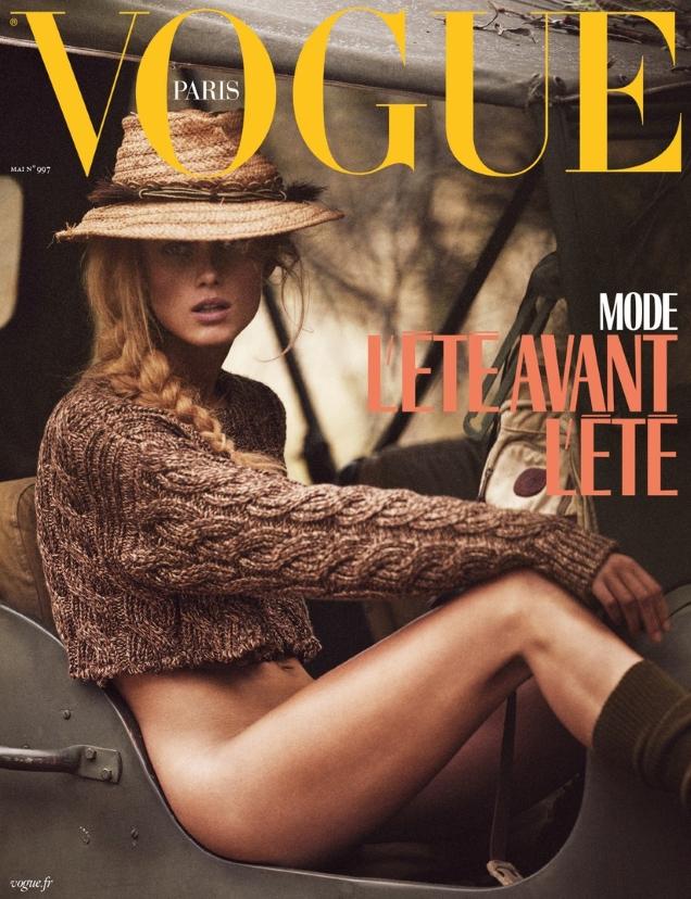 Vogue Paris May 2019 : Rianne van Rompaey by Mikael Jansson